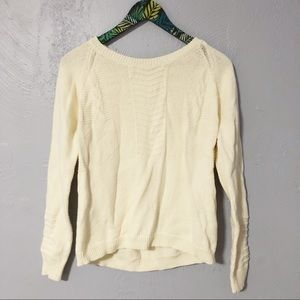 FLAWED Madewell Knitmix Pullover Cotton Sweater